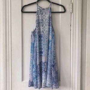 Show Me Your MuMu Gomez Mini Dress - Paisley Blues